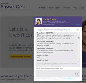 microsoft s answer desk offers live free and fee tech