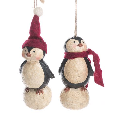 paper clay ornaments primitive paper clay penguin ornament ornaments and winter crafts