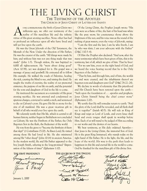 Lds The Living Christ The Testimony Of The Apostles | the living christthe testimony of the apostlesthe church