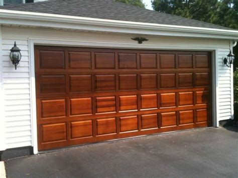 Raised Panel Garage Door Clopay Classic Collection Raised Panel Wood Garage Door In Cedar Factory Finished With Sikkens