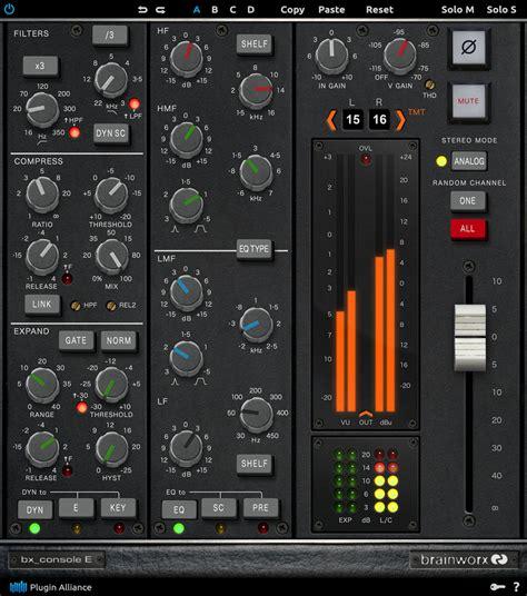 console emulation kvr brainworx bx console e by plugin alliance console