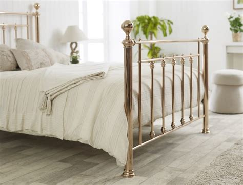 gold metal bed limelight libra 4ft6 double rose gold metal bed frame by