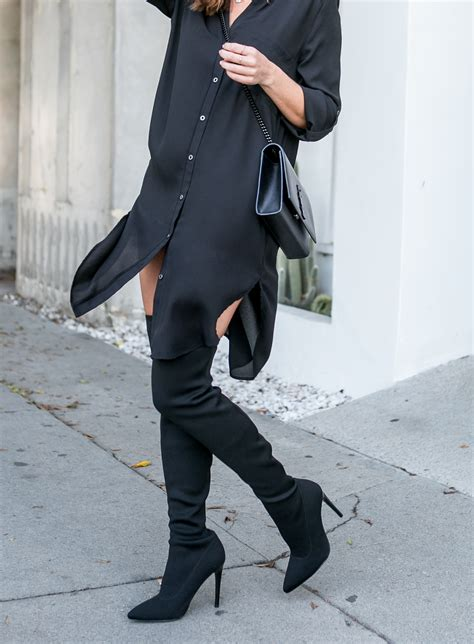 charlize therons black   knee boots celebrity