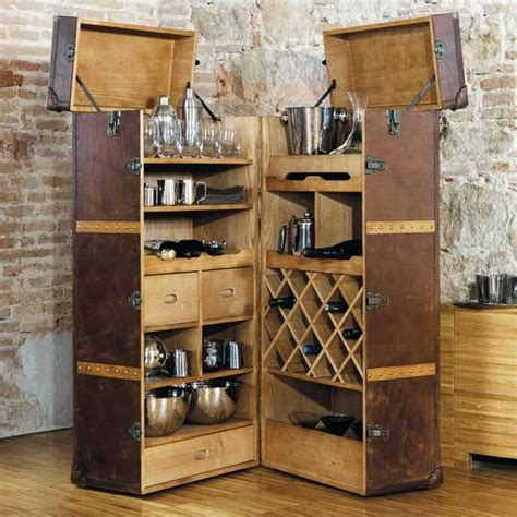 25 Mini Home Bar and Portable Bar Designs Offering Convenient Space Saving Ideas   Lighting