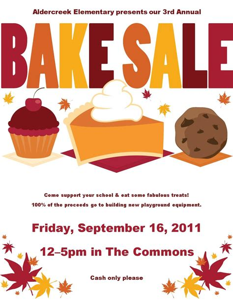 bake sale flyer template free cancel save
