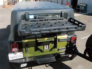 Jeep Jk Rear Cargo Rack Or Fab Tire Carrier With Highrock Rear Cargo Rack