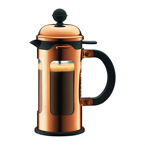 Bodum Chambord 8 Cup Shatterproof French Press Coffeemaker, Chrome, 1.