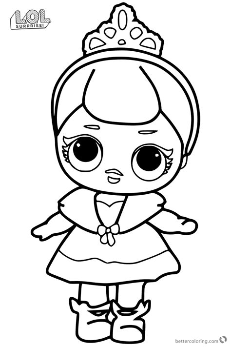 Coloring Page Lol Dolls by Lol Suprise Dolls Coloring Pages Printable Best Free