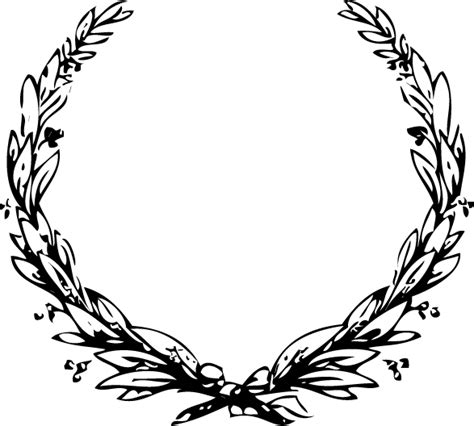 printable laurel leaves laurel wreath clip art cliparts co