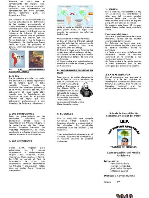tripticos de la sociedad virreinal apexwallpapers com organizacion politica virreynato triptico