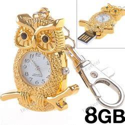 Owl 8gb Flashdisk 2 in 1 owl quartz 8gb usb 2 0 flash drive flash