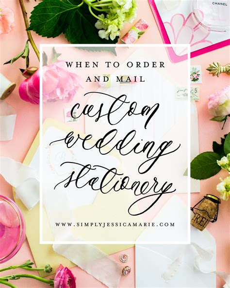 Custom Wedding Stationery by Custom Wedding Stationery 101 When To Order And Mail
