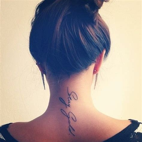back of neck tattoos for females 34 neck tattoos designs for