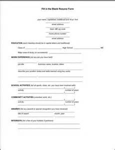 Basic Resume Form To Printable Latest Resume Format