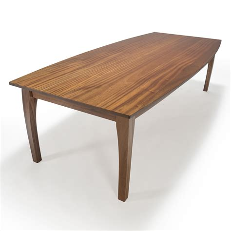 Solid Mahogany Dining Table Custom Made Dining Table Oval Dining Table Solid Wood Dining Table Mahogany Boat Shape Top