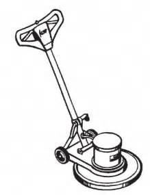 Floor Buffing Machine by Floor Buffer Clipart 9