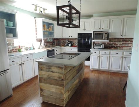 6 ft custom reclaimed wood kitchen island by oldbarnstar1 custom reclaimed wood interest wall or island covering by