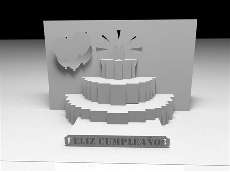 kirigami birthday card template awesome svgs kirigami quot feliz cumplea 241 os quot and quot happy