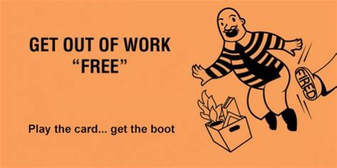 get out of free card template get out of free cards for the office happy worker