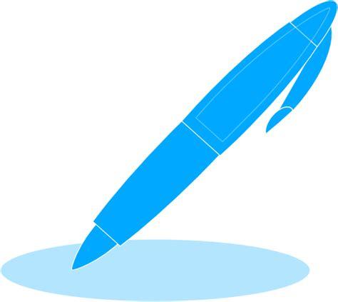 pen clipart blue pen clip at clker vector clip