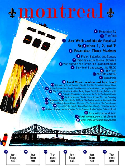 Design Flyer Montreal | montreal flyer ticket printing