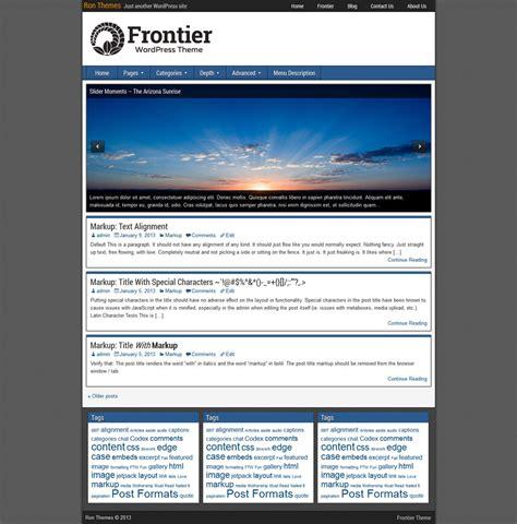 themes wordpress one column frontier theme ronangelo