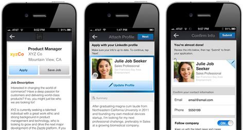 linked in mobile candidates can now apply for your anywhere on any