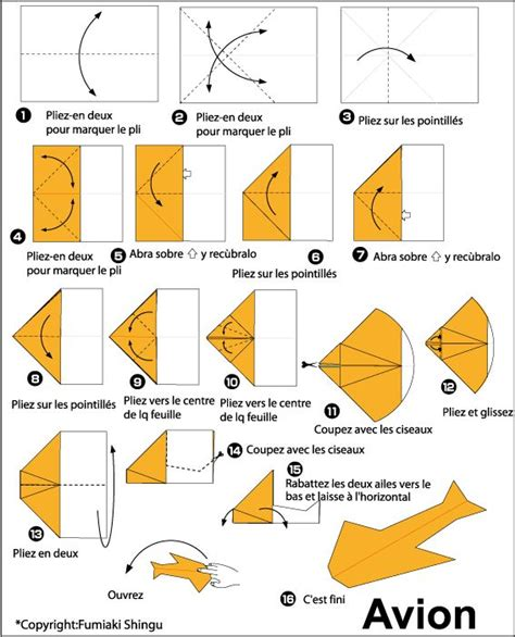 Origami Avion - 10 best ideas about avion en papier on avion
