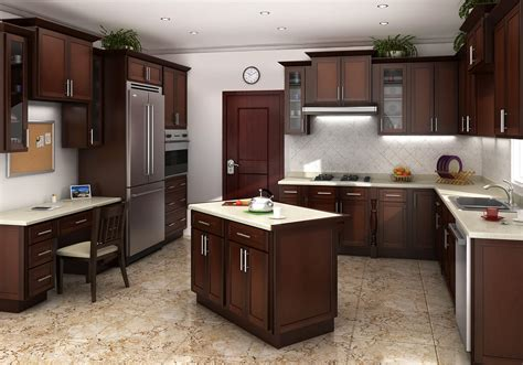 Which Hardwood Stain Go With Cabinet Kitchen - mocha shaker kitchen cabinets