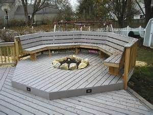 deck with built in pit timbertech deck designer columbus decks porches and