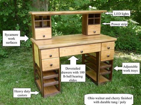 hand  hobby work benchdesktable  custom furniture creations custommadecom
