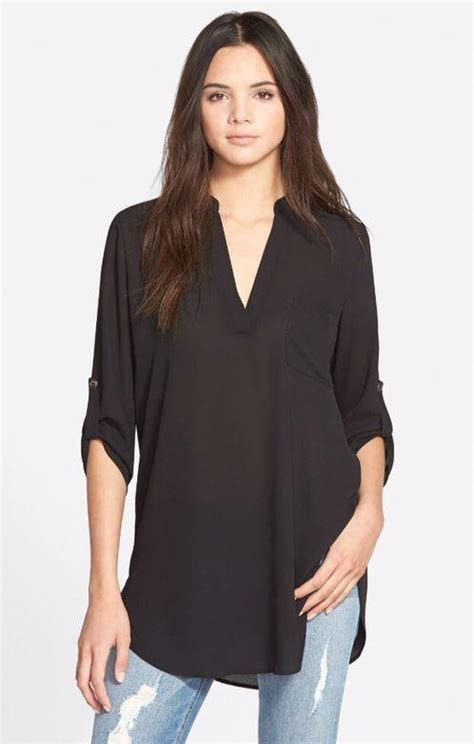 Blouse Atasan Tunik Import Black Casual Lace Size M 192241 new tops t shirt blouse womens casual sleeve tops plus size ebay
