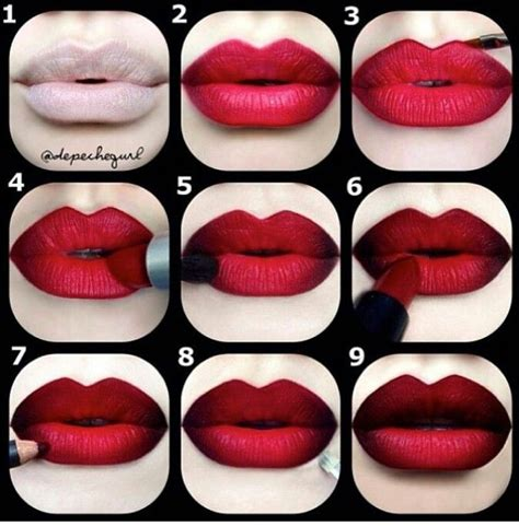 video tutorial lipstik ombre red ombre lips hair style pinterest mac lipstick