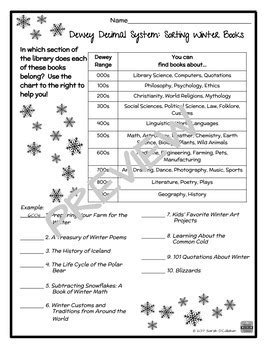 Dewey Decimal System Worksheets by Dewey Decimal System Worksheets Casademateo