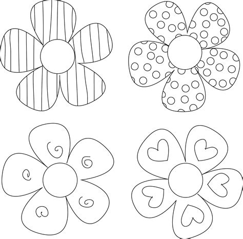 printable preschool flowers use these free digital sts and sentiments for your