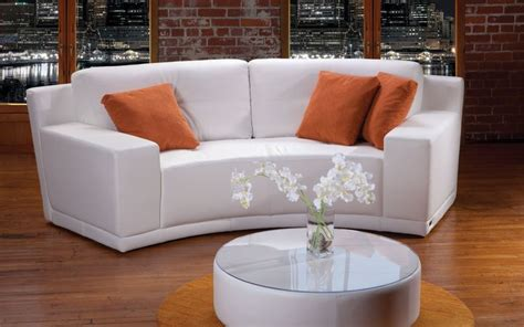 white leather circular sectional sectional expo contemporary style platinum collection