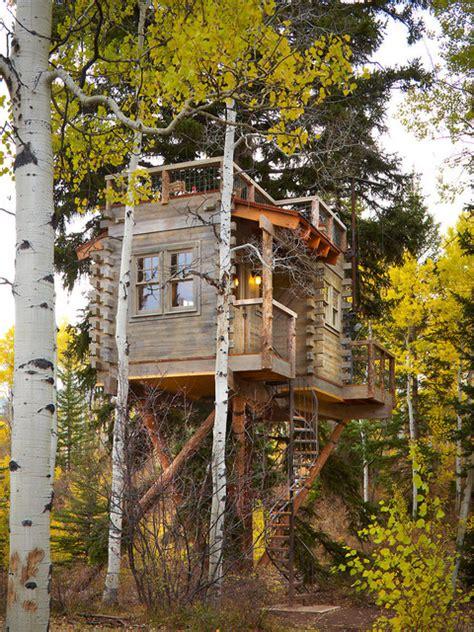 colorado treehouse rustic exterior denver  missy