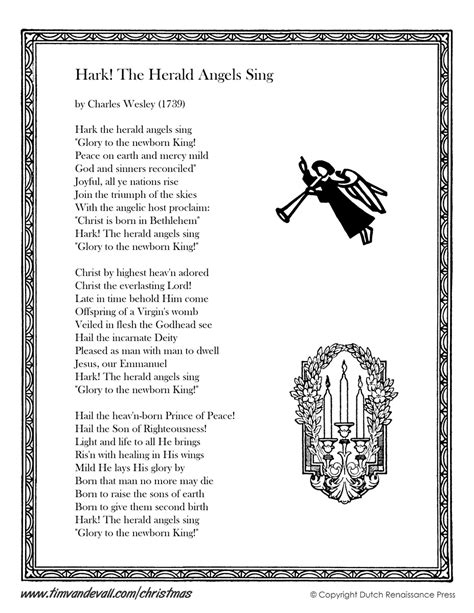 printable lyrics hark the herald angels sing hark the herald angels sing lyrics christmas lyrics