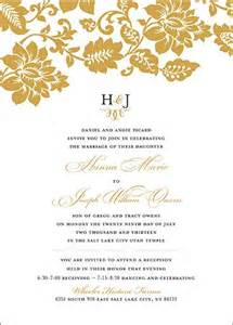 lds wedding invitations pin by utah announcements on lds wedding invitations