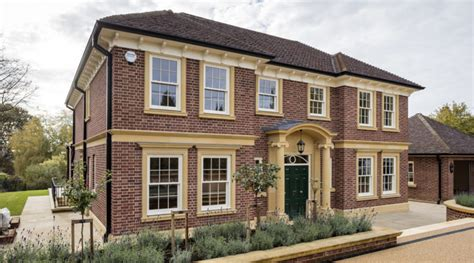 new build georgian inspired house leaf architecture surrey