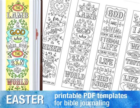 printable religious easter bookmarks 17 best images about bible journaling on pinterest