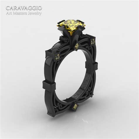 Black Sapphire 12 5ct masters caravaggio 14k black gold 1 5 ct princess