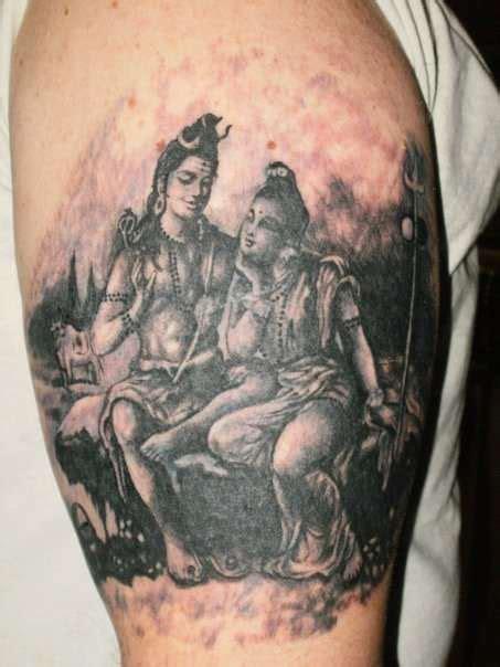 shiva parvati tattoo source http www ratemyink com