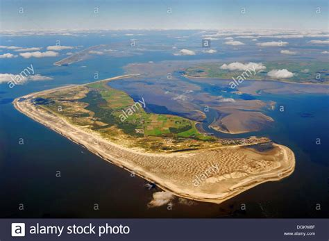 sylt island aerial view amrum island with the islands of sylt and