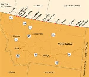 map of alberta montana border