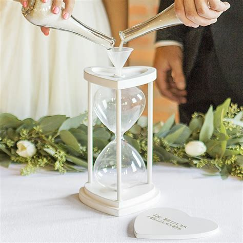 Wedding Ceremony With Sand by Unity Sand Ceremony Set White Hourglass Personalized