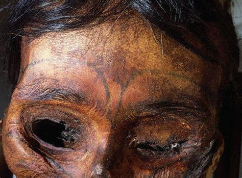 tattooed eskimo female mummy
