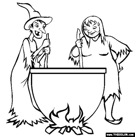 witch cauldron coloring page online coloring pages starting with the letter w page 3