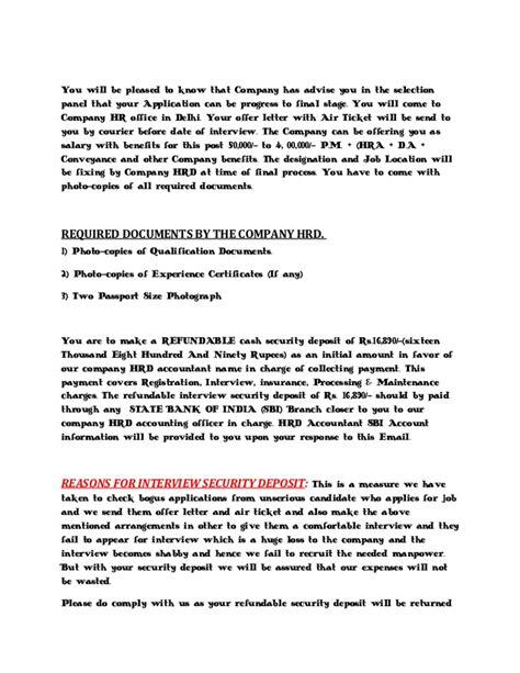 appointment letter format delhi marutisuzuki call letter