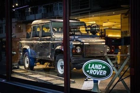 range rover truck in skyfall bond s skyfall defender debuts in harrods display